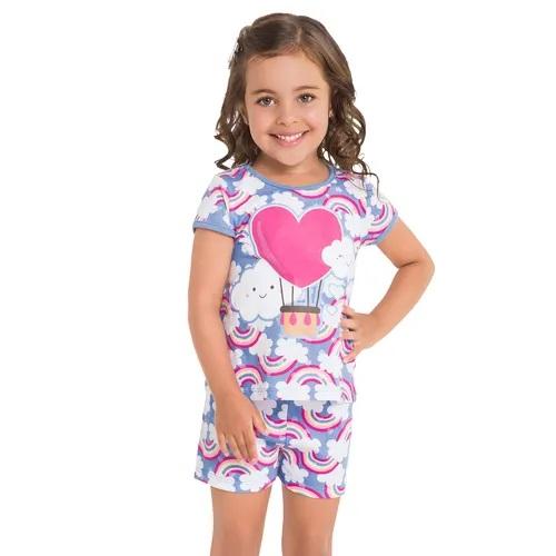 pijama manga curta kylly menina