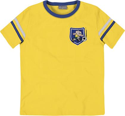 Camiseta Infantil Menino com Frisos Turma da Mônica e Hering Kids - R$49,99