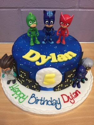 PJ Mask Aniversario bolo
