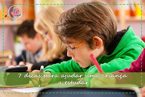 7 Dicas Para Ajudar Uma Criança A Estudar