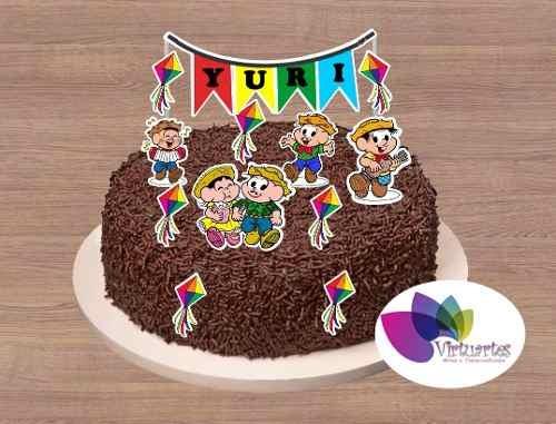 bolo de chocolate com festa junina