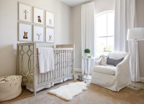 branco quarto de bebe