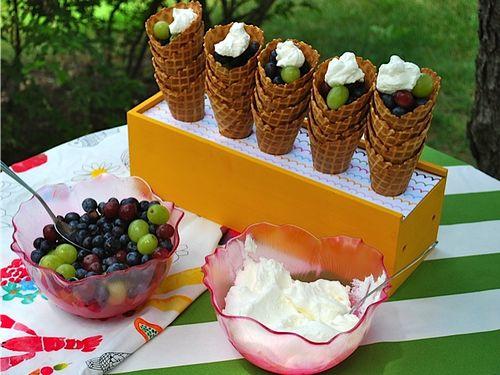casquinha de frutas para festa de aniversário piquenique