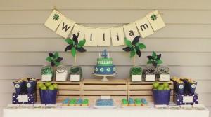Decoração simples para aniversario caseiro de menino