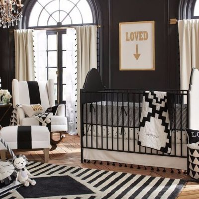 quarto de bebe preto
